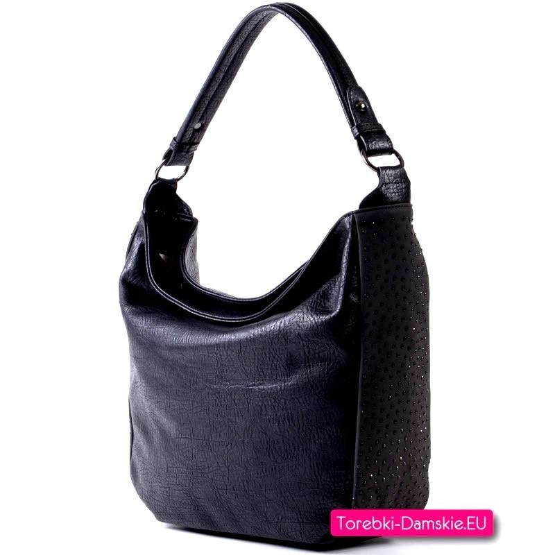Czarna torebka na ramię i do przewieszenia