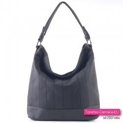 Czarna torebka A4 na ramię