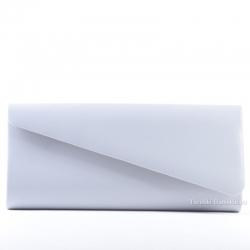 Szara popielata kopertówka - wizytowa/wieczorowa elegancka torebka