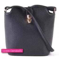 Czarna mała torebka crossbody - listnoszka/przewieszka