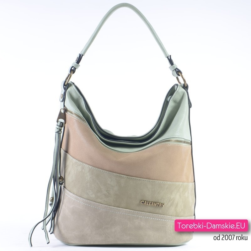 Zielona pastelowa torebka damska - miętowy odcień