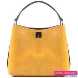 Żółto - czarna torebka damska