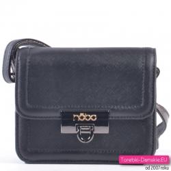 Czarna mała torebka z klapką