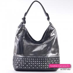 Srebrno - czarna torba damska na ramię