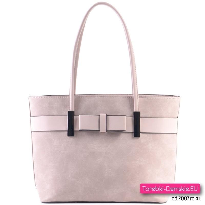 Różowa pastelowa torba z kokardą