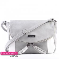 Szaro - biała torebka crossbody - listonoszka