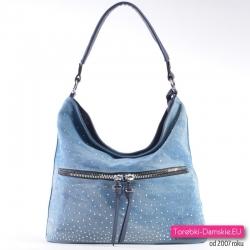 Niebieska dżinsowa torebka damska