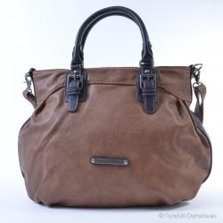Tania, duża brązowa torba - ładny odcień brązu