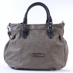 Tania, szara - popielata duża torba mieszcząca A4