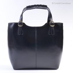 Luksusowa czarna torba ze...