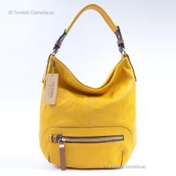 Duża torba - worek w pięknym odcieniu koloru żółtego