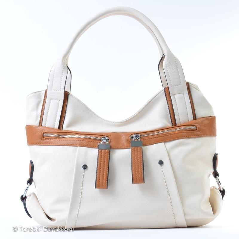 Biała duża torebka