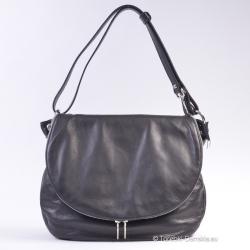 Czarna torebka z klapą -...
