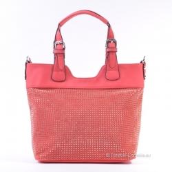 Czerwona torebka z ćwiekami