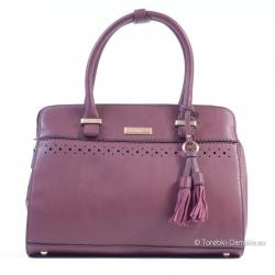 Torebka damska kuferek w kolorze śliwkowym