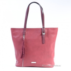 Bordowa duża torba damska ShopperBag David Jones