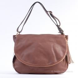 Duża brązowa torba z klapą