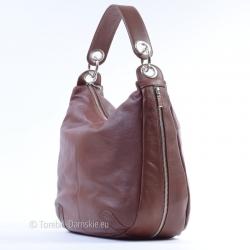 Brązowa torba damska z...