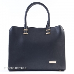 Czarna prostokątna torba -...