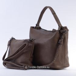 Dwie torebki w cenie jednej - zestaw - kolor brązowy