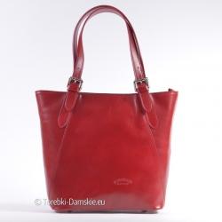 Skórzana czerwona torba L'Artigiano