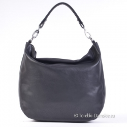 Czarny pojemny worek - torba listonoszka