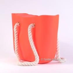 Jasnoróżowa torba silikonowa