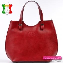 Czerwona duża torba ze...