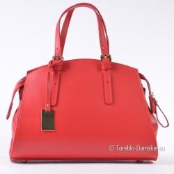 Czerwony kuferek - włoska torebka damska ze skóry