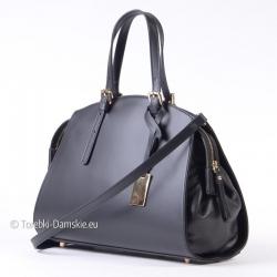 Włoski kuferek - torebka ze skóry w pięknym fasonie