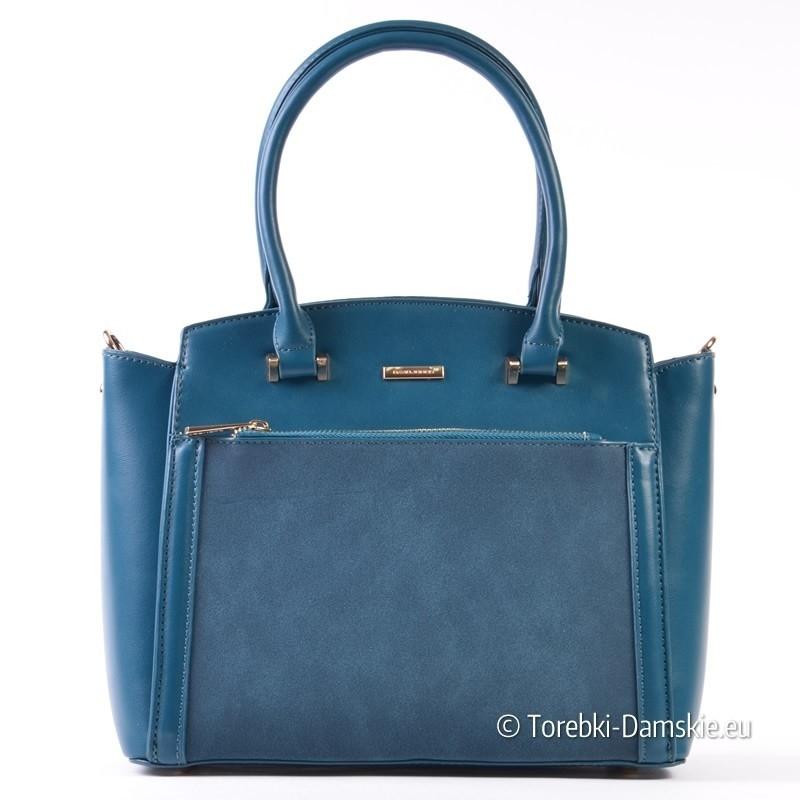 Kuferek David Jones - torebka w morskim odcieniu błękitu