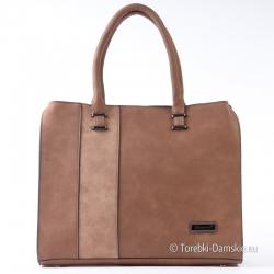 Pojemna teczka - brązowy kuferek, trzy odcienie