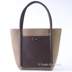 Oryginalna torba Monnari kolor beżowy z kawą - Wysyłka gratis