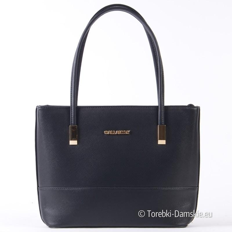 Czarna torebka z ekologicznej skóry saffiano