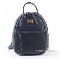 Czarny mini-plecak damski David Jones