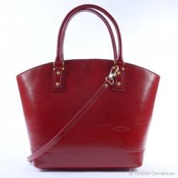 Czerwona torebka typu łódka...
