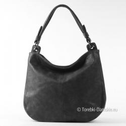 Worek w kolorze czarnym - torebka na ramię średnia wielkość
