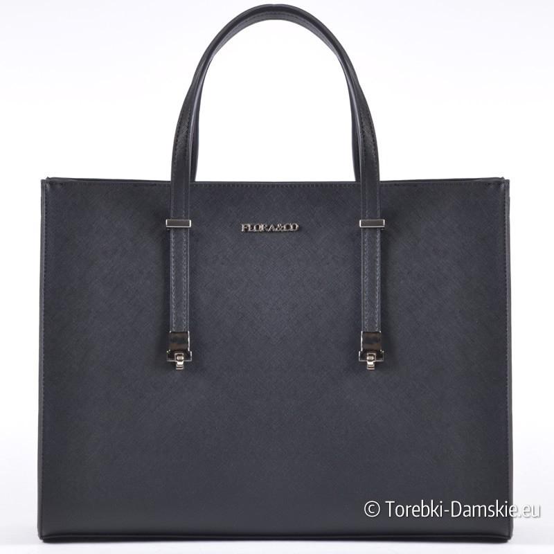 Czarna torebka A4 - pojemna teczka
