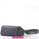 Lekka torebka - kuferek w kolorze czarnym na ramię i do przewieszenia