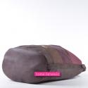 Duża torba na ramię - odcienie brązu i bordo