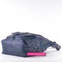 Granatowa torebka i plecak w jednym