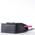 Torebka listonoszka elegancki model w kolorze czarnym z szarym
