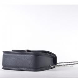 Sztywna czarna torebka do noszenia w przewieszeniu
