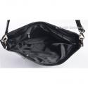 Pojemna lekka torebka w kolorze czarnym z przegrodą wewnątrz