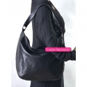 Tania czarna torebka damska na ramię ze skóry eko mieści A4