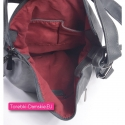 Szara torebka i plecak w jednym