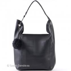Czarna torebka z kosmetyczką w komplecie