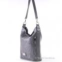 Modna lekka szaro - grafitowa torebka średniej wielkości