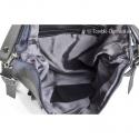 Szara torebka z miękkiej skóry naturalnej z funkcją plecaka