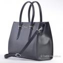 Czarny kuferek - teczka A4 ze srebrnymi zdobieniami